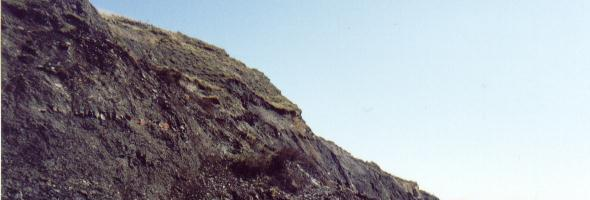 Cliffs on the jurassic coast of Dorset UK, near Lyme Regis.